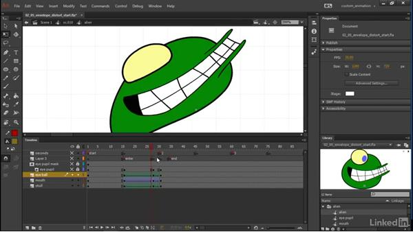 Envelope and distort: Learn Adobe Animate CC: Animation