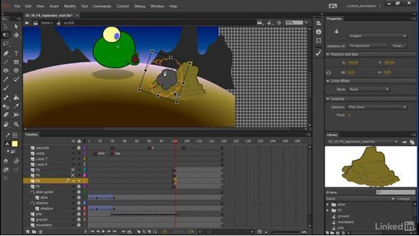 Explosion: Learn Adobe Animate CC: Animation