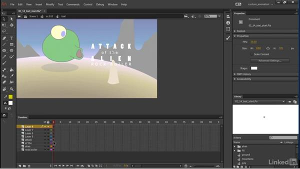 Adding text: Learn Adobe Animate CC: Animation