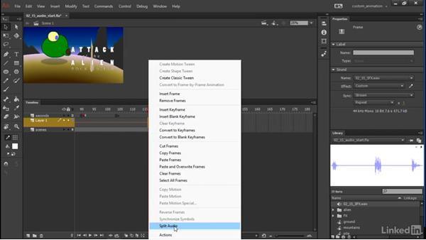 Adding sound: Learn Adobe Animate CC: Animation