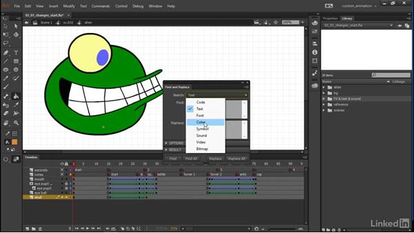 Making variations and improvements: Learn Adobe Animate CC: Animation