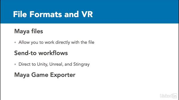 Exporting and ideal file formats for VR: 3D Content Creation for Virtual Reality