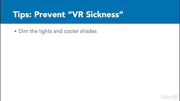 Tips to prevent VR sickness: 3D Content Creation for Virtual Reality