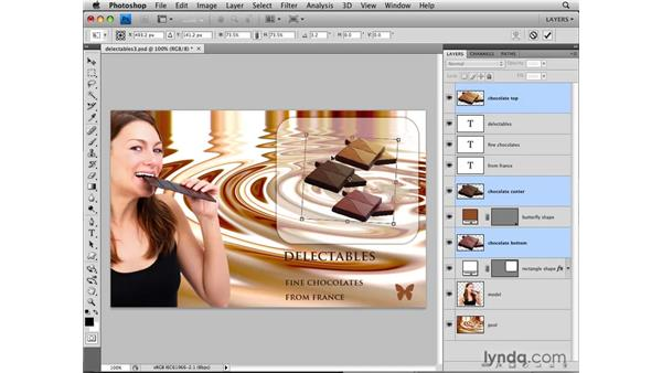 Selecting multiple layers: Photoshop CS4: Layers in Depth