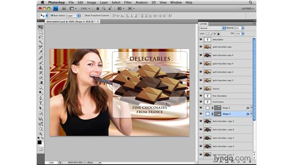 Selecting from a contextual menu: Photoshop CS4: Layers in Depth