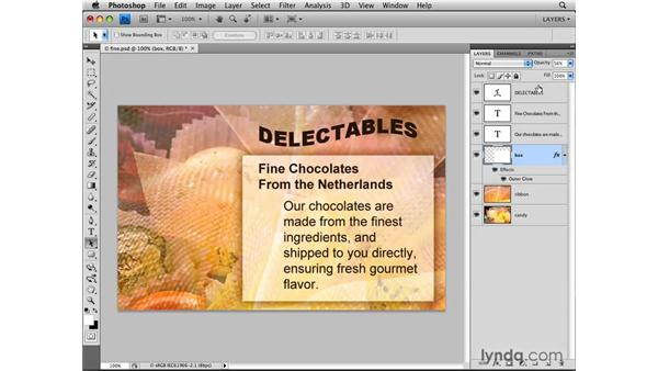 Varying layer opacity: Photoshop CS4: Layers in Depth