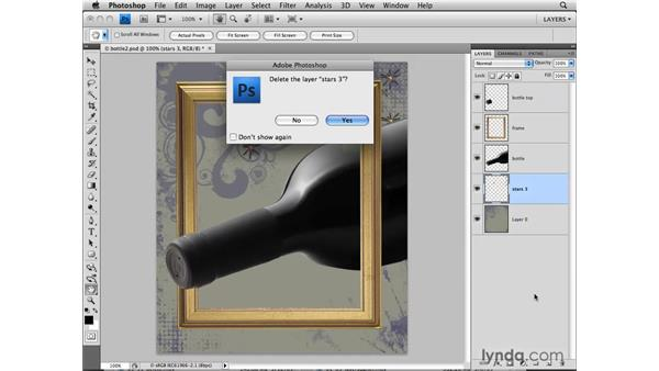 Deleting layers: Photoshop CS4: Layers in Depth