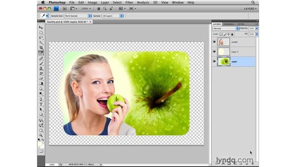 Making a new blank layer: Photoshop CS4: Layers in Depth