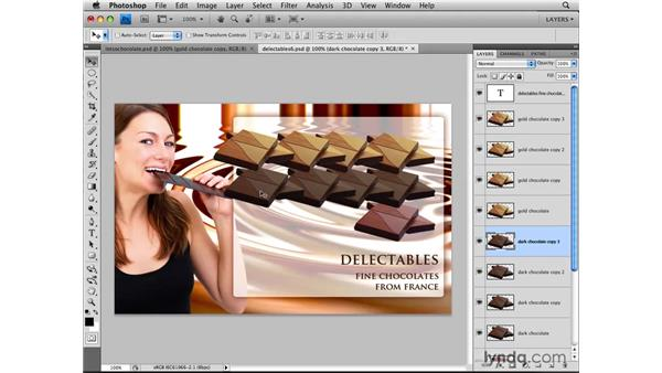Duplicating layers: Photoshop CS4: Layers in Depth