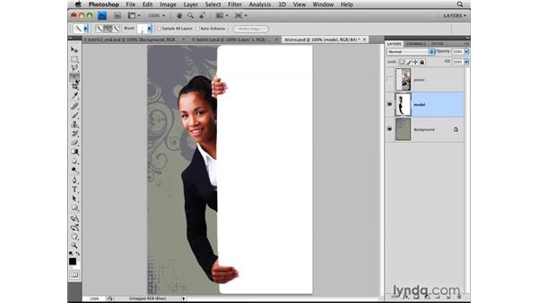 Creating layers from selections: Photoshop CS4: Layers in Depth