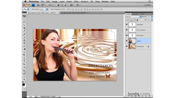 Making layers by combining images: Photoshop CS4: Layers in Depth