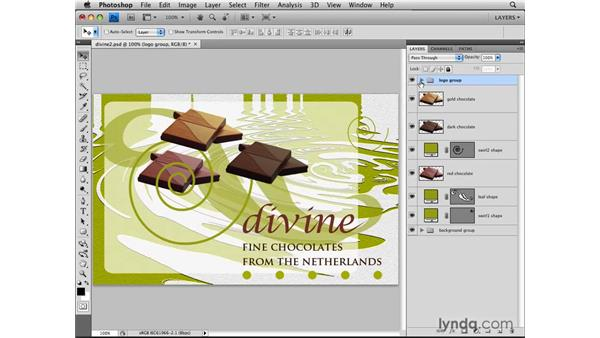 Managing layers with layer groups: Photoshop CS4: Layers in Depth