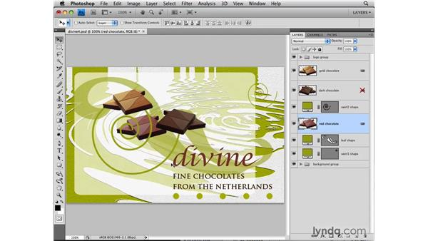 Linking layers: Photoshop CS4: Layers in Depth