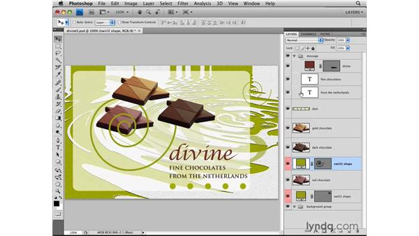 Labeling layers: Photoshop CS4: Layers in Depth