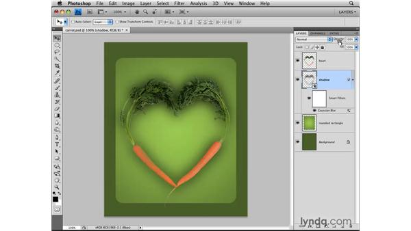 Loading transparency as a selection: Photoshop CS4: Layers in Depth