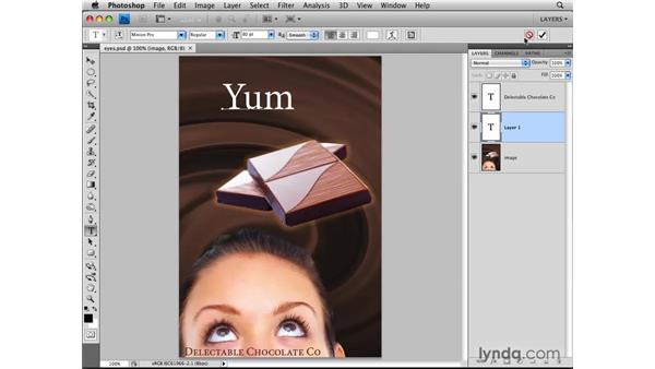 Creating type layers: Photoshop CS4: Layers in Depth