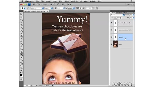 Editing type layers: Photoshop CS4: Layers in Depth