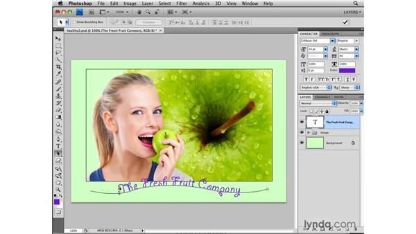 Making type on a path: Photoshop CS4: Layers in Depth