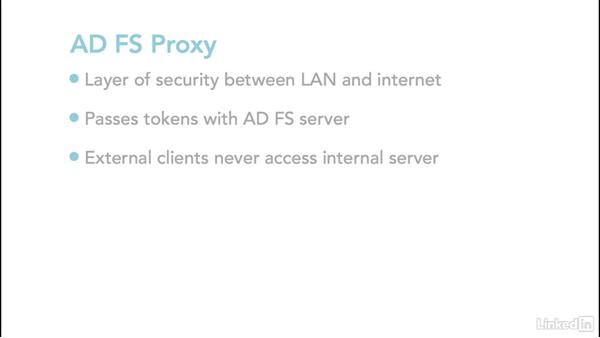 AD FS proxy requirements: Office 365: Implement Identities for SSO