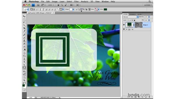 Creating custom shapes: Photoshop CS4: Layers in Depth