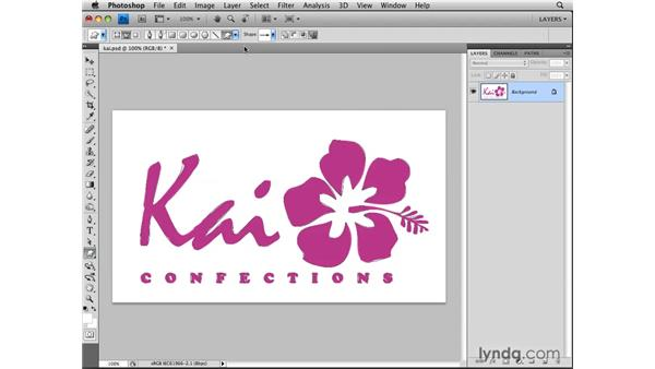 Making a custom shape from a logo: Photoshop CS4: Layers in Depth