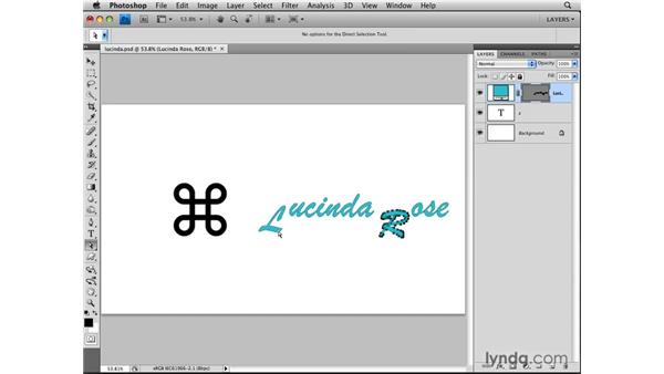 Making a custom shape from type: Photoshop CS4: Layers in Depth