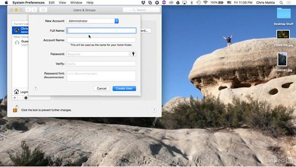 Creating a recording account: Camtasia 2 for Mac Essential Training