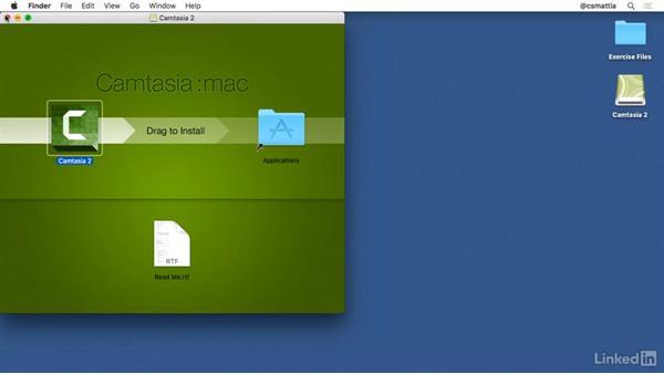 Installing Camtasia for Mac: Camtasia 2 for Mac Essential Training
