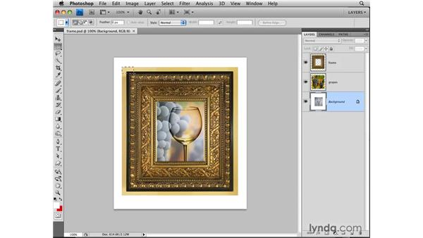 Converting a background layer: Photoshop CS4: Layers in Depth