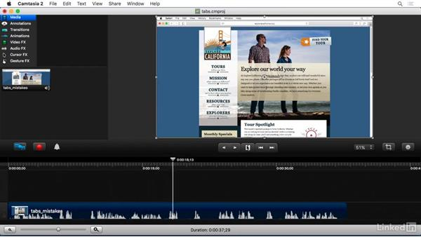 Handling mistakes: Camtasia 2 for Mac Essential Training
