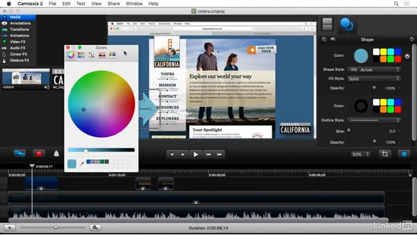 Customizing colors: Camtasia 2 for Mac Essential Training