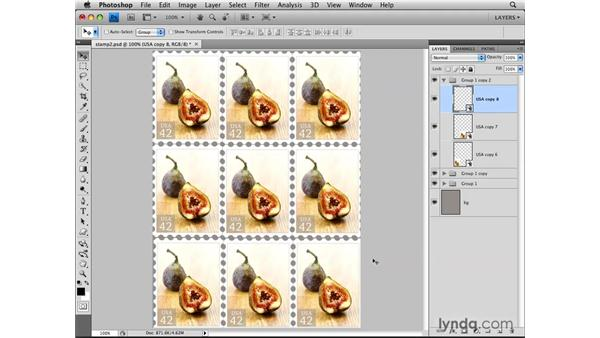 Using Smart Objects as templates: Photoshop CS4: Layers in Depth