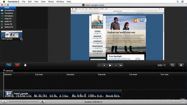 Importing media from Google Drive: Camtasia 2 for Mac Essential Training