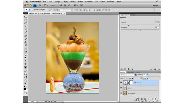 Editing nondestructively with adjustment layers: Photoshop CS4: Layers in Depth