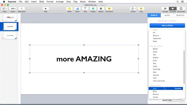 Using Keynote to create animated titles: Camtasia 2 for Mac Essential Training