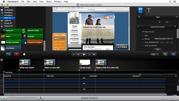 Using the Interactive Hotspot FX: Camtasia 2 for Mac Essential Training