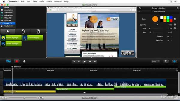 Using Cursor FX: Camtasia 2 for Mac Essential Training