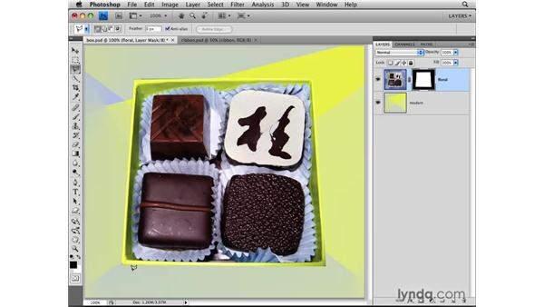 Masking with a selection: Photoshop CS4: Layers in Depth