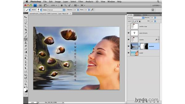 Combining images with layer masks: Photoshop CS4: Layers in Depth
