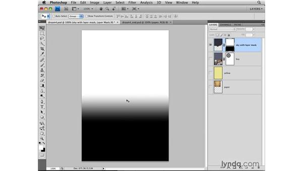 Adding a vector mask: Photoshop CS4: Layers in Depth
