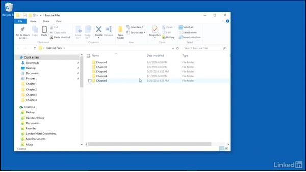 Using the exercise files: Migrating from Office 2007 to Office 2016