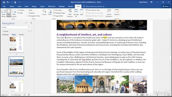 Navigate your document: Migrating from Office 2007 to Office 2016