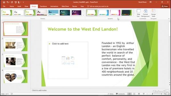 Explore presentation themes: Migrating from Office 2007 to Office 2016