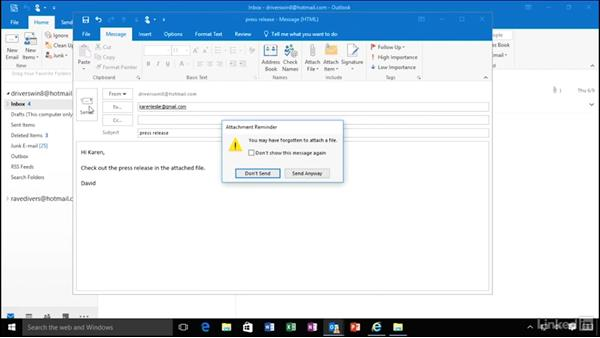 Never forget to attach files: Migrating from Office 2007 to Office 2016