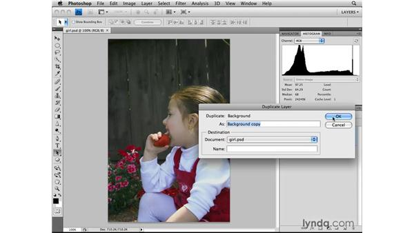 Increasing contrast with the Overlay and Soften blend modes: Photoshop CS4: Layers in Depth