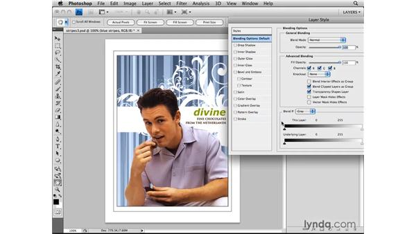 Blending layers with Blend If sliders: Photoshop CS4: Layers in Depth