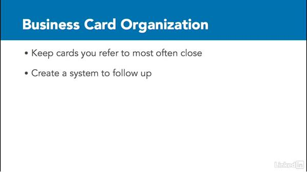 Organize Physical Business Cards