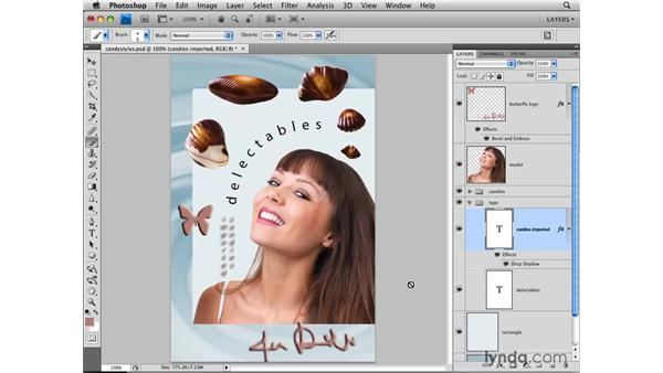 Adding layer effects: Photoshop CS4: Layers in Depth