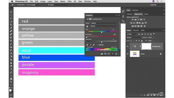 Hue/Saturation color controls review: Photoshop CC: Creative Color for Photographers