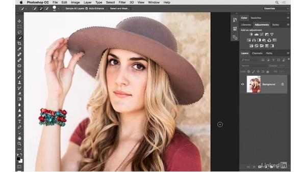 Changing hat color: Photoshop CC: Creative Color for Photographers